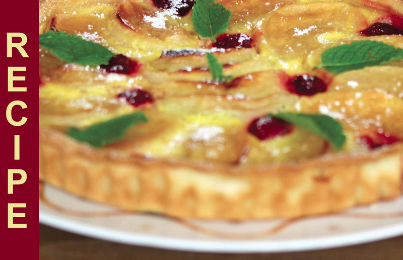 Haxnicks Recipes for gardeners - tarte francaise delicious easy tart to use up windfall apples