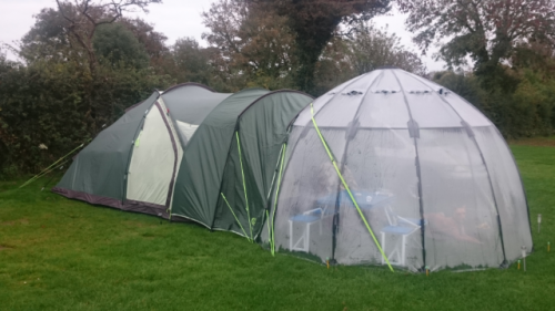 Using a Haxnicks Sunbubble as a tent