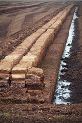 peat cutting ahead of the ban on peat in garden centres 2024