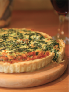 Cooked_Spinach_quiche_on_board