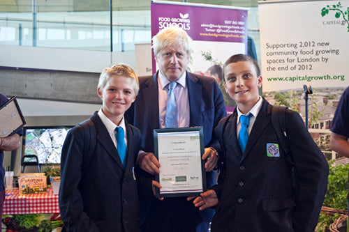 Boris Johnson Awards Haxnicks Prizes to pupils