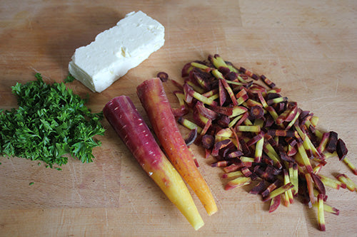 Purple Carrots prepared for Cooking
