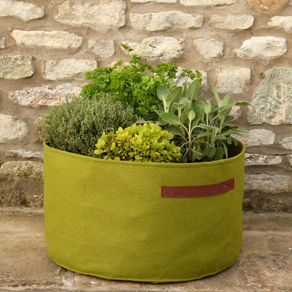 Vigoroot Herb Planter - Haxnicks- in use patio