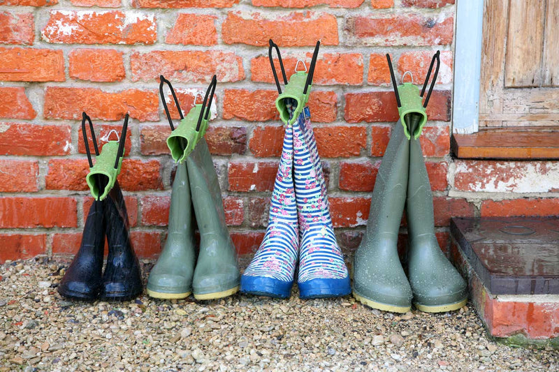 Haxnicks- BootClamp - in use on group of wellies