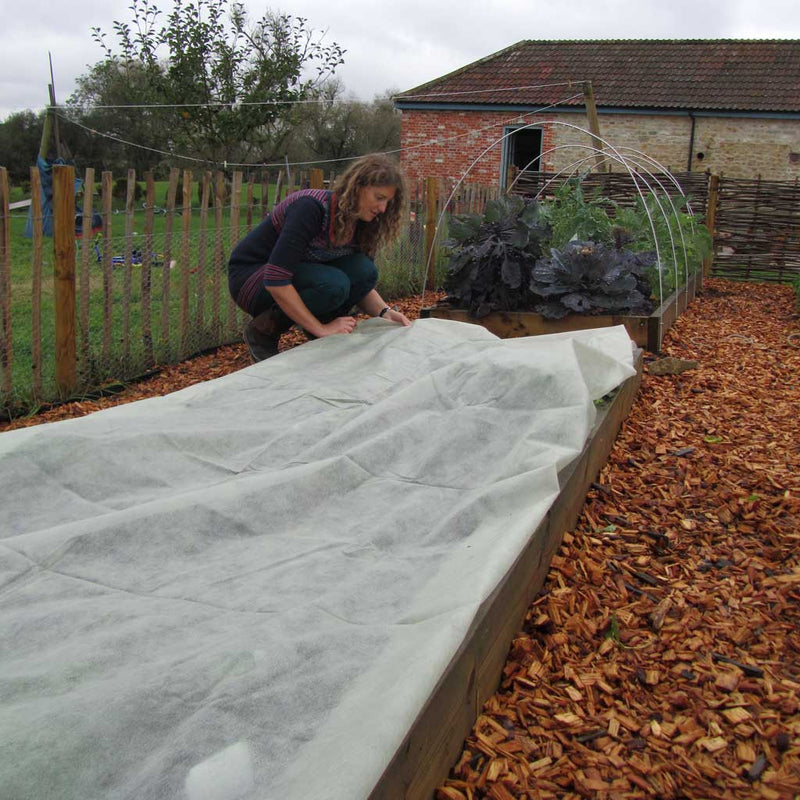 Haxnicks- Eco-Green Fleece Blanket 1.8mx10m - in use being put down