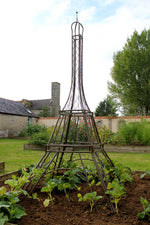 Haxnicks- Eiffel Tower Plant Frame - in use bare frame