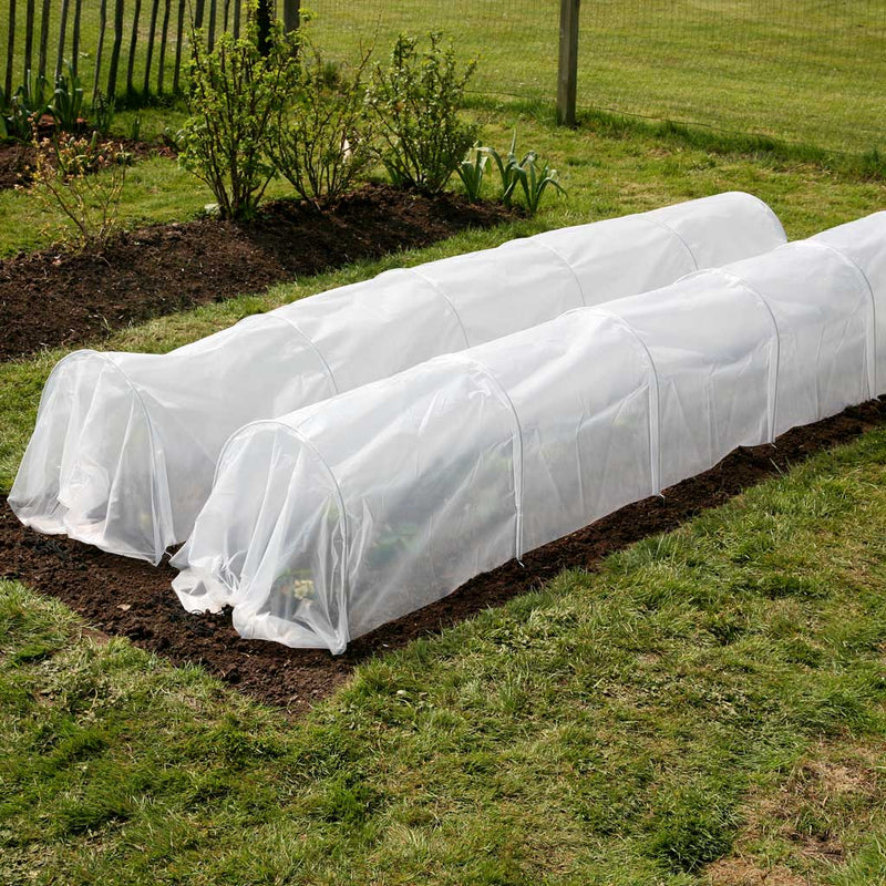 Haxnicks- Easy Poly Tunnel - pair in use in garden