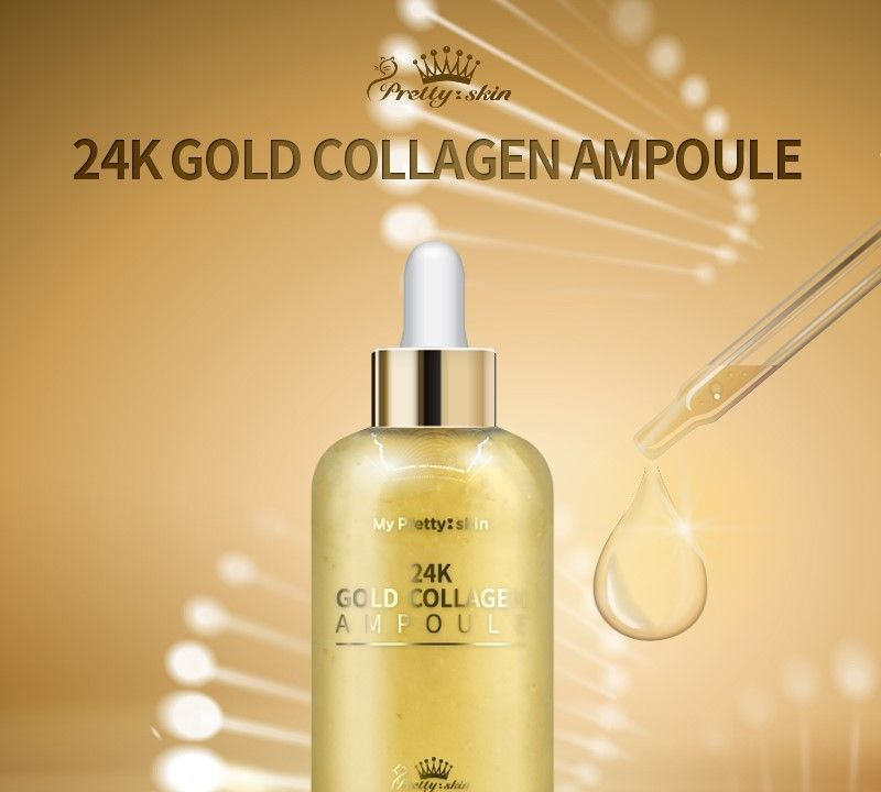 Pretty Skin 24K Gold Collagen Ampoule 50ml