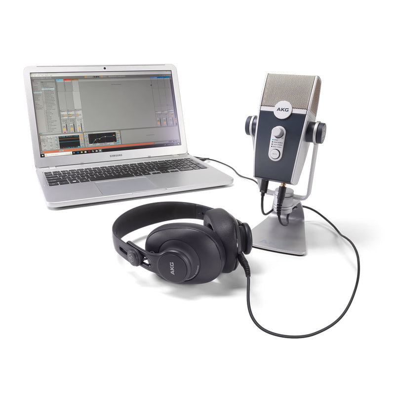 AKG Podcaster Essentials Lyra USB Microphone And K371 Headphones