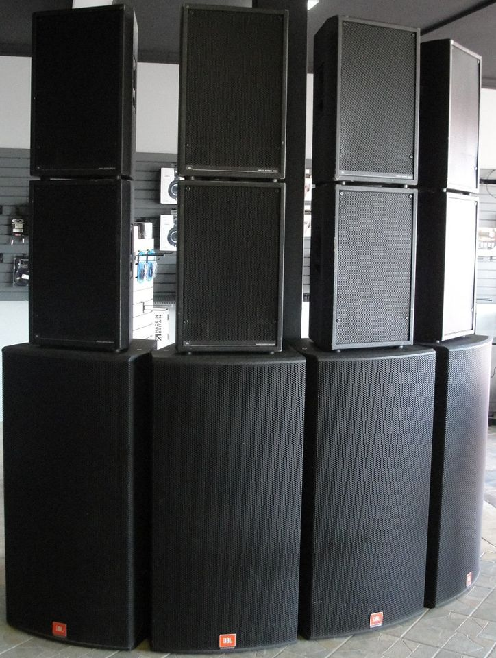 JBL Array / Powersound P.A System (8) Top (4) Subwoofer - Used