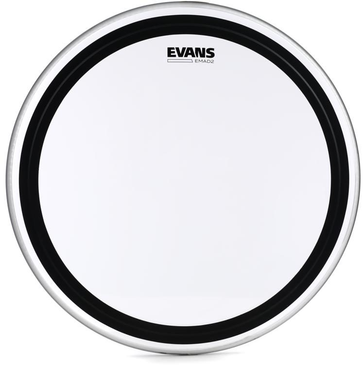"Evans EMAD2 20"" Batter Bass Drum Head - Clear"