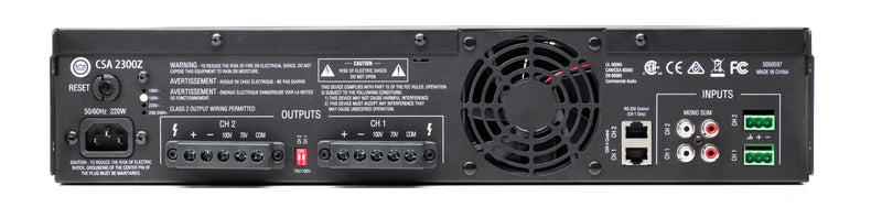 JBL CSA2300Z 70/100v Dual-Channel 300W Amplifier