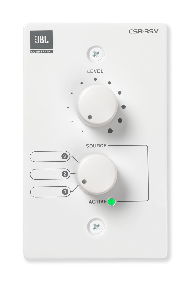 JBL Wall-Mounted Remote Control For Csm Mixers, White