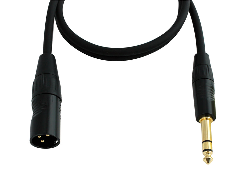 Digiflex HXMS-3 1/4'' TRS to XLR Male Adaptor Cable - 3'