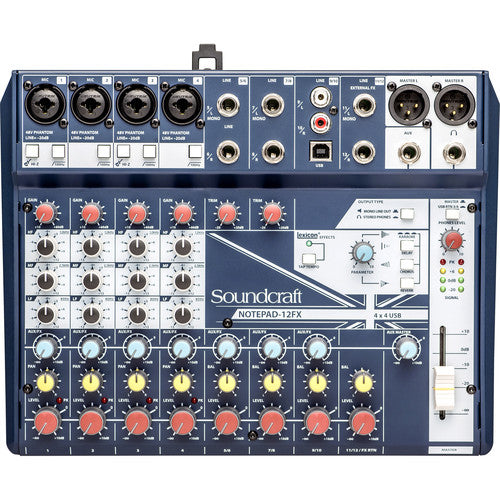 Soundcraft Notepad-12FX Audio Mixer With Usb & Lexicon Effects