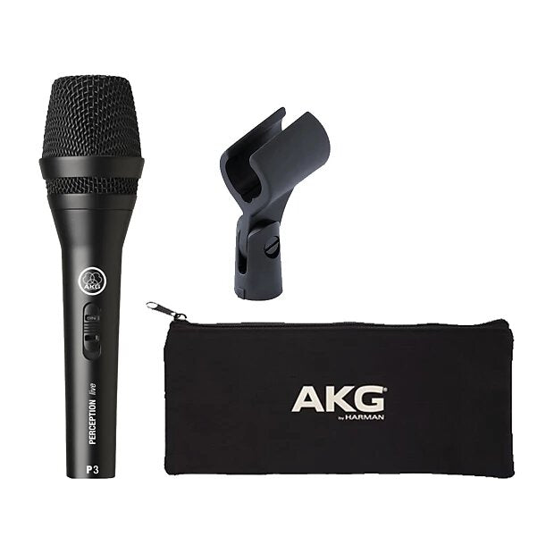 AKG P3S High-Performance Dynamic Microphone With On/Off Switch