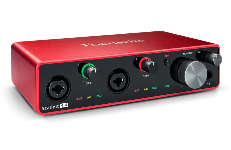Focusrite 4 In /4 Out USB Recording Interface
