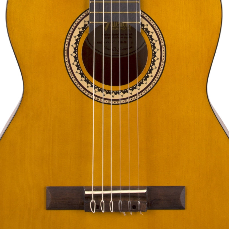 Valencia VC204-AN 4/4-Size Antique Natural Classical Guitar