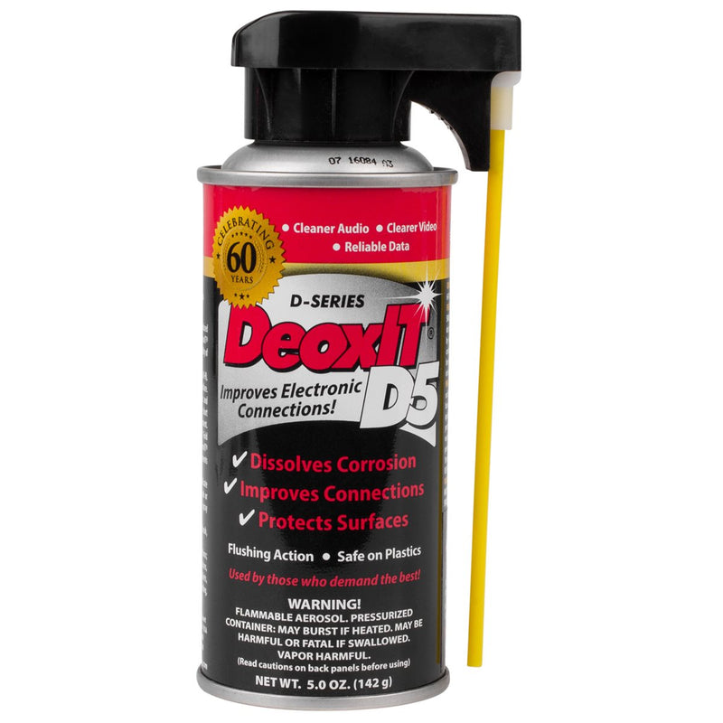 Hosa Technology D5S-6 CAIG DeoxIT 5oz. Contact Cleaner Spray
