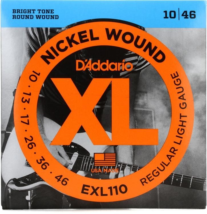 D'Addario EXL110 Nickel Wound Reg. Light 10-46