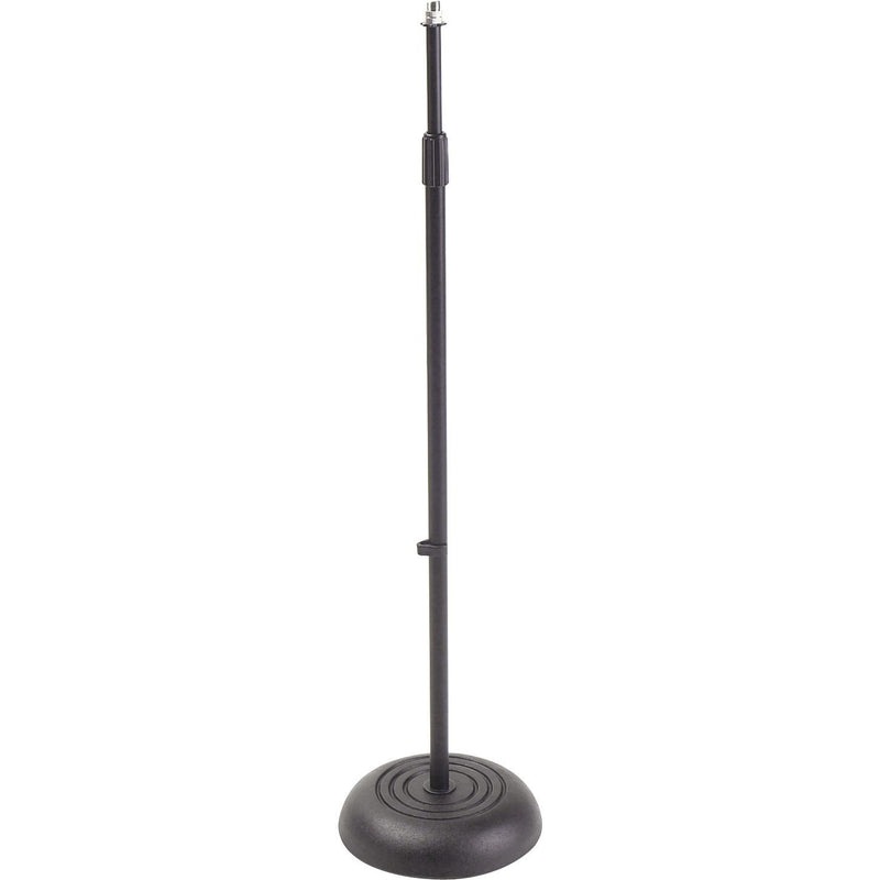 On-Stage Stands MS7201B Round Base Mic Stand - Black