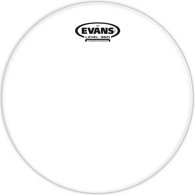 Evans TT10G2 10'' Batter Tom Drum Head - Clear
