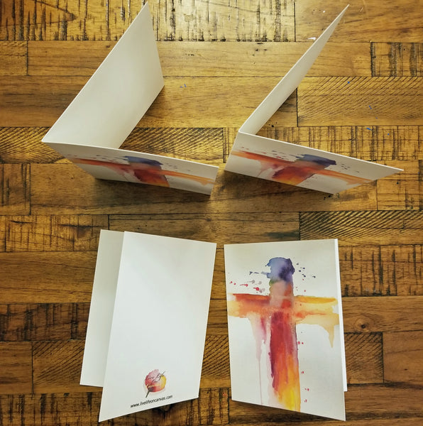 Colorful Cross - Greeting Cards