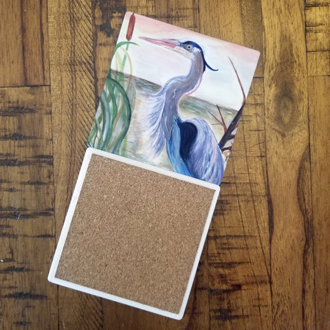 Heron Coasters - Set of 4