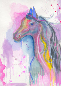 "Horse of a Different Color - Original Painting (9""x12"")"