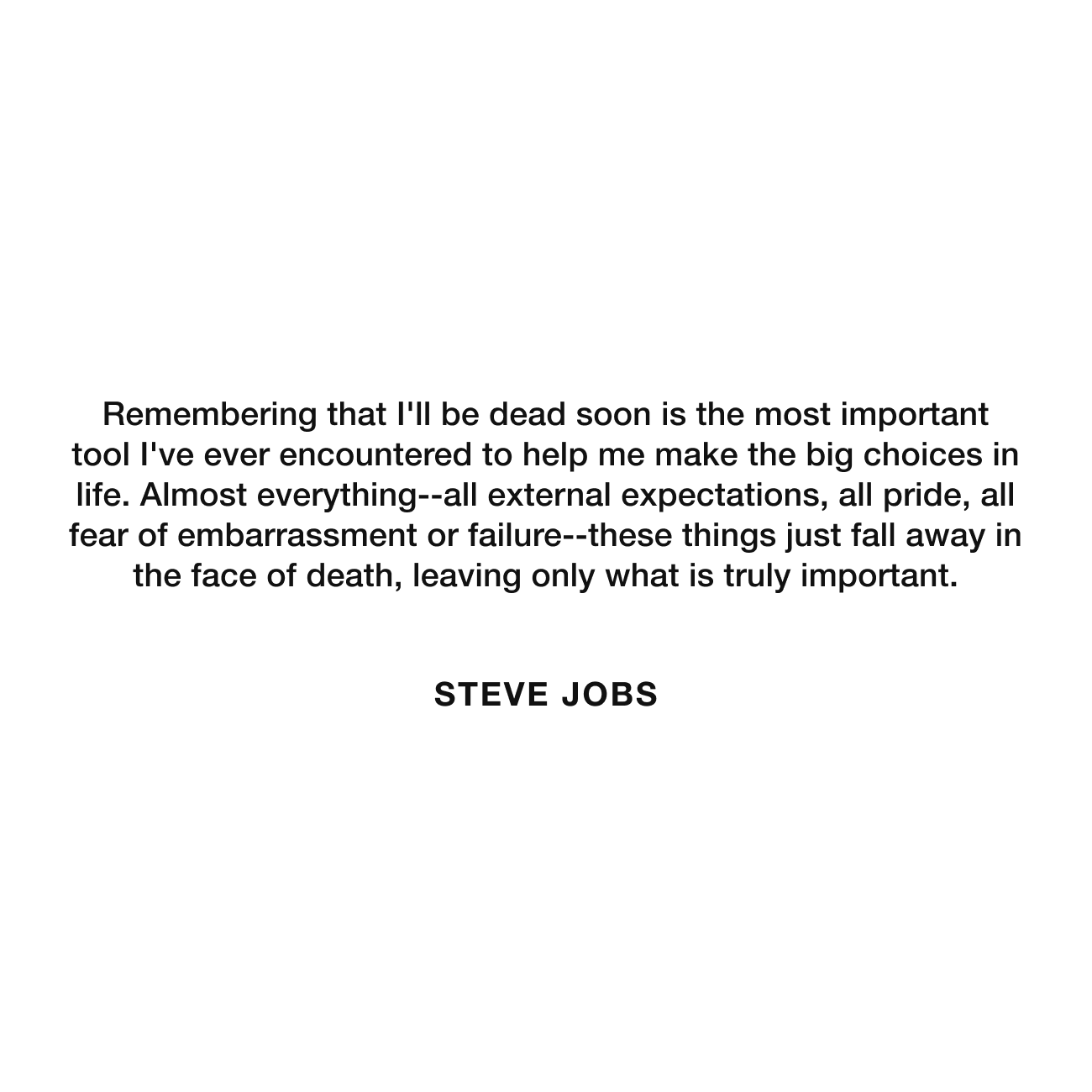Memento Mori Quote Steve Jobs - Stoic Reflections