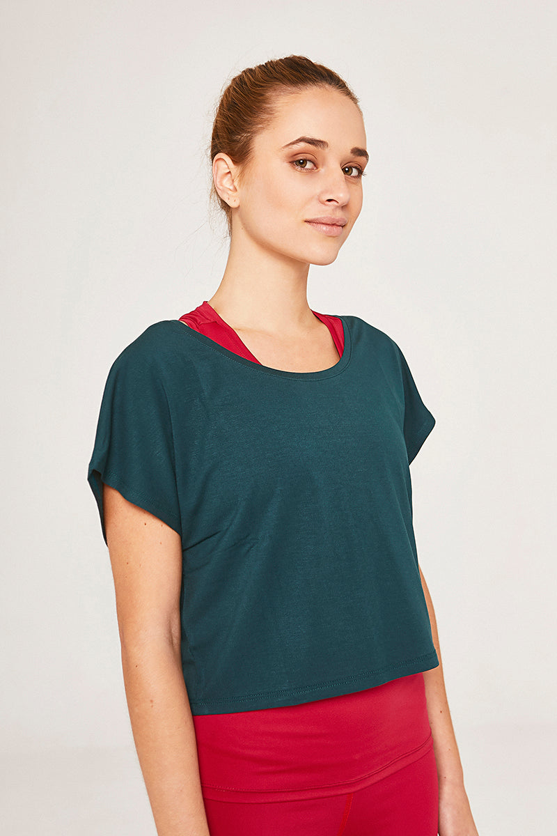 Bambusowy t-shirt Conchita Forest Green - Fairclo