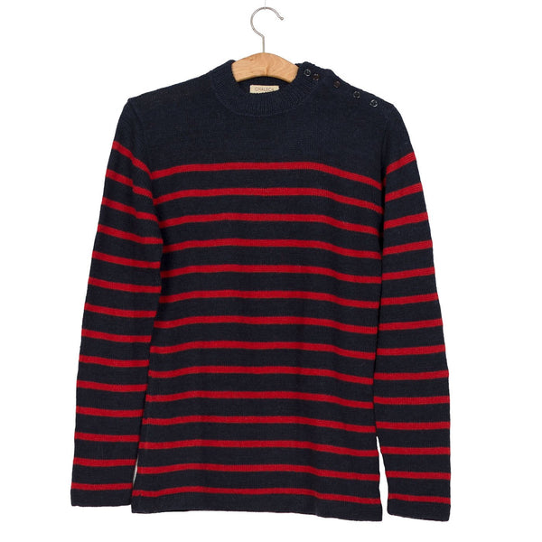 Sweter Fisherman Blue & Red