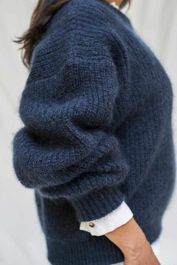 Wełniany sweter Lucie Navy