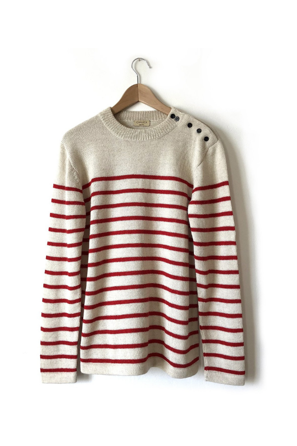 Sweter Fisherman White & Red