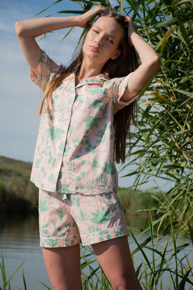 Circe's Garden Pink Short Pyjama Set - Women - Fairclo