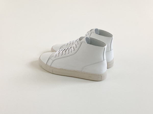 Visby Vegan High Top Sneaker White - Fairclo