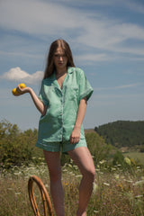 Joyful Green Short Pyjama Set - Women - Fairclo