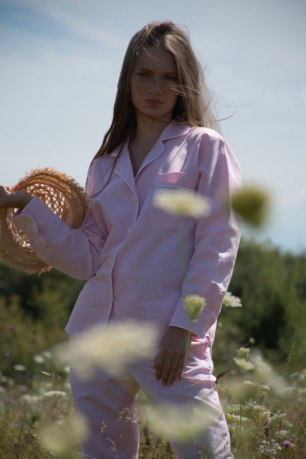 Joyful Pink Long Pyjama Set - Women - Fairclo