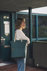 London Tote Backpack Dark Green
