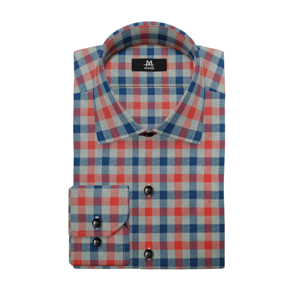 NAVY & RED LUXURY FLANNEL CHECK