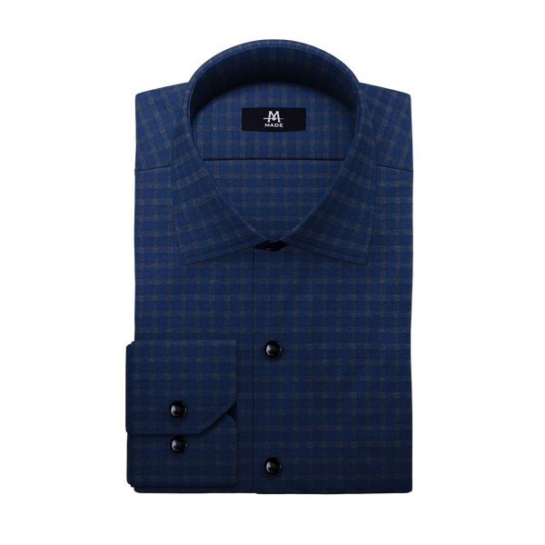 NAVY & GREY LUXURY FLANNEL CHECK