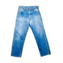 Load image into Gallery viewer, 1960s Sanforized KEY Light Wash Denim