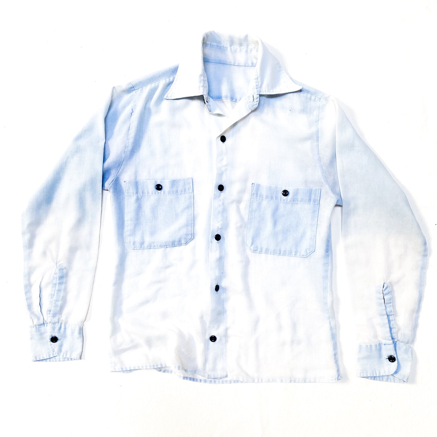 Vintage Paper Thin Collared Button Down Shirt