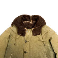 Load image into Gallery viewer, 1940s WWII Military Green Alpaca Hooded Parka