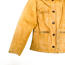 画像をギャラリービューアに読み込む, 1950s Tanned Leather Western Jacket by Pueblo Fur Co.