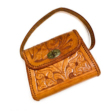 Load image into Gallery viewer, Vintage Floral Tooled Leather Purse
