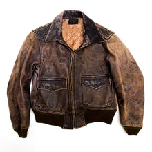 Load image into Gallery viewer, 1960s United Built Brown Leather Bomber