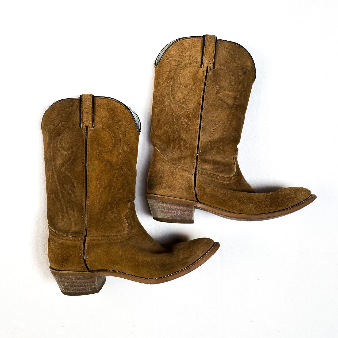 Durango Suede Rough Out Cowboy Boots