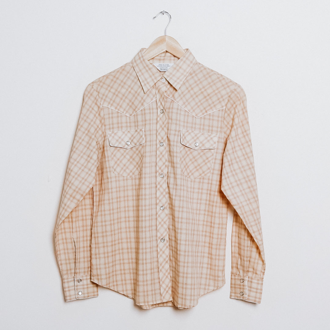 60s Dead Stock Sears Plaid Western Shirt