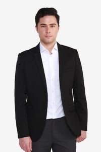 Slim Fit Polyester Twill Suit Blazer